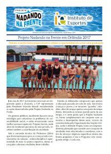 Nadando na frente - Informativo 2017 - 03 MAR